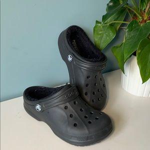 Crocs fleece lined